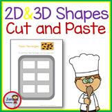 2D **COOKIE** Shapes and  Shape Words  (Kindergarten)
