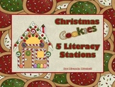 Christmas Cookies- 5 literacy Stations