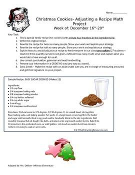 Christmas Cookies: A Fractions Homework Performance Task