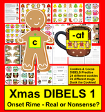 Christmas Activities:  DIBELS Cookies And Cocoa Onset Rime - Set 1