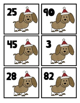 Ordering Numbers 0-100 Christmas Activity