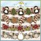 Christmas Cookies Clip Art Bundle - 5 Colored Clip Art Sets
