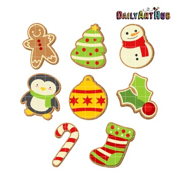 Christmas Cookies Clip Art - Great for Art Class Projects!