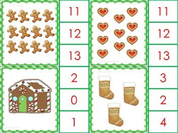 Christmas Cookies- Clip Cards for Number Sense
