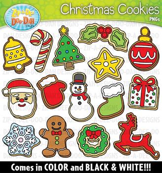 Christmas Cookies Clipart {Zip-A-Dee-Doo-Dah Designs}
