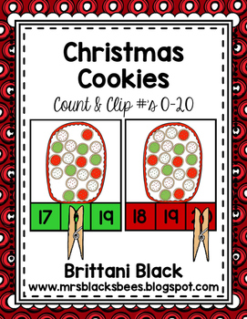 Christmas Cookies~ Count and Clip