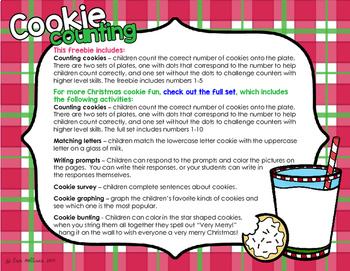 Christmas Cookies Counting Freebie
