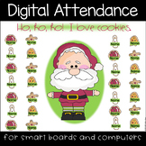 Christmas Cookies Digital Attendance (Smart Boards and Computers)