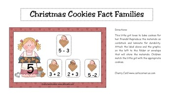 Christmas Cookies Fact Families Match Activity