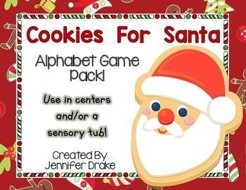Christmas 'Cookies For Santa' Alphabet Game/Center! CC Aligned PreK-1