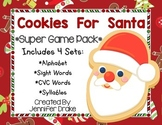 Christmas 'Cookies For Santa' Game Pack! 4 Centers/Games Aligned To CC! PreK-1