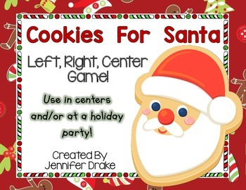 Christmas 'Cookies For Santa' LRC Game!  Great Center, Game for party, etc! K-2