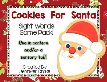 Christmas 'Cookies For Santa' Sight Word Game/Center! CC Aligned! K-1
