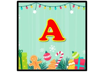 Christmas Cookies, Lights, Banner, Bulletin Board Letters, Alphabet Posters A-Z