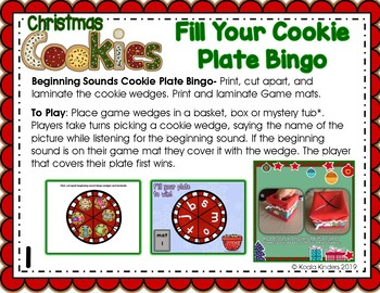 Christmas Cookies Literacy Centers