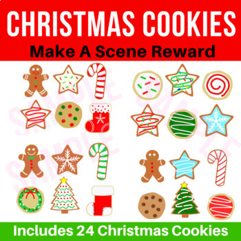 Christmas Cookies Make A Scene Incentive Reward | Classroom, VIPKid, Online ESL