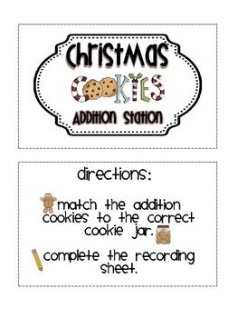 Christmas Cookies Math Stations
