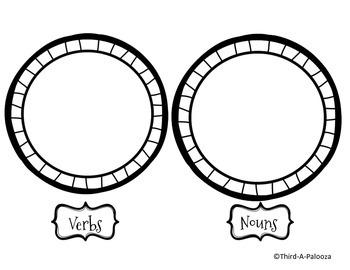 Christmas Cookies Noun & Verb Interactive Notebook Sort