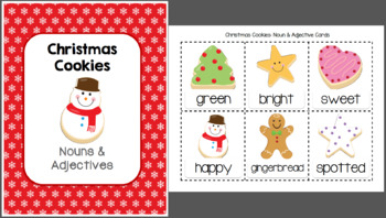 Christmas Cookies Nouns and Adjectives Printable Pack