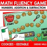 Math Fluency:  Christmas Cookies Editable