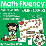 Math Fluency:  Christmas Cookies Editable