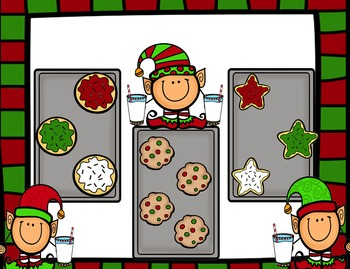 Christmas Cookies and Milk Kooshball Game for SMARTboard