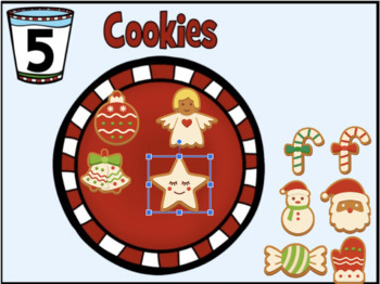 Christmas Cookies  count and drag - Google Slides
