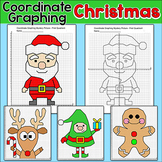Christmas Math Coordinate Graphing: Santa, Reindeer, Elf, Gingerbread Man