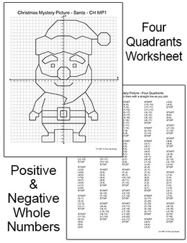 Christmas Math Coordinate Graphing: Santa, Reindeer, Elf ...