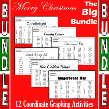 Christmas Coordinate Graphing Activities - The Big Bundle