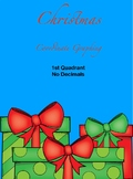 Christmas Coordinate Graphing - First Quad - No Decimals - Sleigh +2