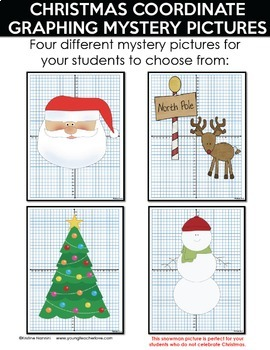 Christmas Coordinate Graphing Mystery Pictures - Christmas Activities