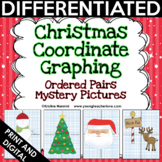 Christmas Coordinate Graphing Pictures Ordered Pairs | Mat