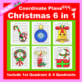 Christmas Coordinate Graphing Picture: Christmas Bundle 6 in 1