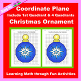 Christmas Coordinate Graphing Picture: Christmas Ornament