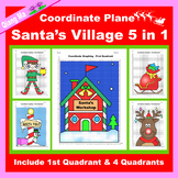 Christmas Coordinate Graphing Picture: Christmas Village 5 in 1