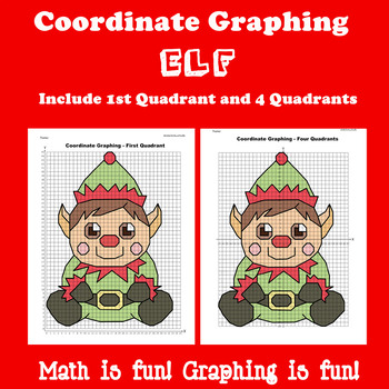 Christmas Coordinate Graphing Picture: Elf