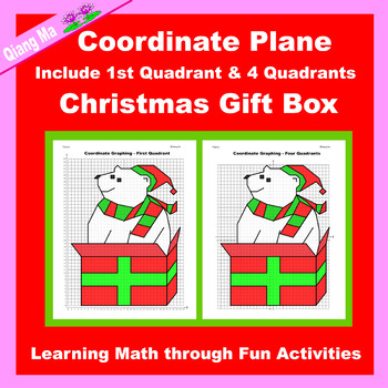 Christmas Coordinate Graphing Picture: Gift Box