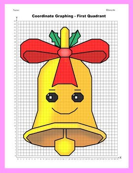 Christmas Coordinate Graphing Picture: Jingle Bell