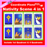 Christmas Coordinate Graphing Picture: Nativity Scene 4 in 1
