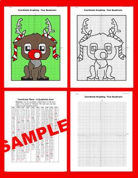 Christmas Coordinate Graphing Picture:Reindeer Sven/Frozen