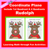 Christmas Coordinate Graphing Picture: Rudolph