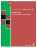 Christmas Coordinate Graphing - first quadrant only - no d