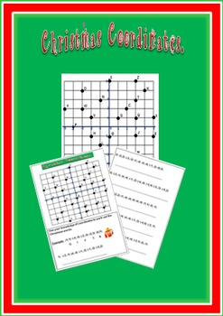 Christmas Coordinates Worksheet - Four Quadrants