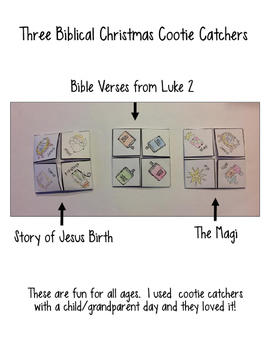 Christmas Cootie Catchers: Bible Theme