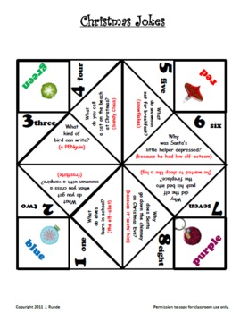 Christmas Cootie Catchers - FREE