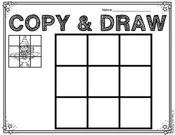 Christmas Copy Grid Drawings