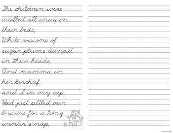 Christmas Copywork - Cursive Handwriting Practice