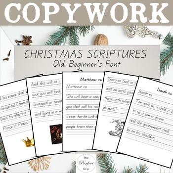 Christmas Scriptures.Christmas Copywork Qld Beginner S Font Esv Scriptures