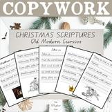 Christmas Copywork: Qld Modern Cursive, ESV Scriptures